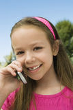 Girl Using Cell Phone Royalty Free Stock Photo