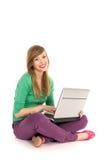 Girl using laptop Royalty Free Stock Images