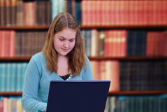 Girl Using Laptop Royalty Free Stock Photo