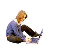 Girl using laptop 5 Stock Photo