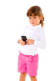 Girl using mobile Royalty Free Stock Images