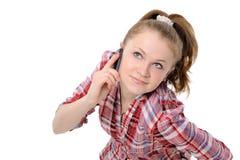 Girl using a mobile phone Stock Photos