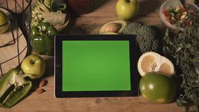 Girl Uses Tablet stock footage