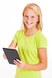 Girl using tablet Royalty Free Stock Photography