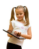 Girl using tablet PC. Stock Photography