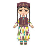 The girl in  Uzbek dress. Historical clothes. Stock Photo