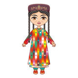 The girl in  Uzbek dress. Historical clothes. Royalty Free Stock Photography