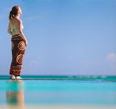 Girl on vacation Stock Images
