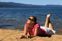 Girl on vacation Royalty Free Stock Image