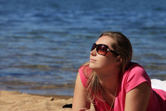 Girl on vacation Stock Photography