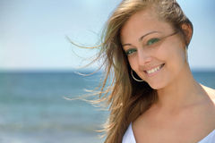 Girl on vacation royalty free stock images