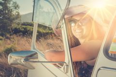 Girl on vacations Royalty Free Stock Photo