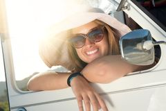 Girl on vacations Stock Photography