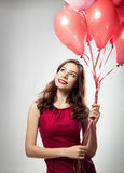 Girl in valentines day Stock Photos