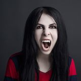 Girl is a vampire Royalty Free Stock Photo