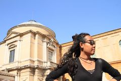 Girl in Vatican Museum Royalty Free Stock Image