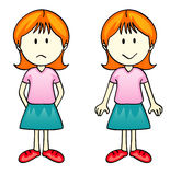 Girl (vector) Stock Photography