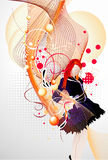 Girl vector composition Stock Images