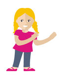 Girl Vector Illustration in Flat Design Stock Photography