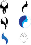 Girl Vector logos Royalty Free Stock Images
