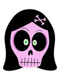 Girl vector skull Royalty Free Stock Photography
