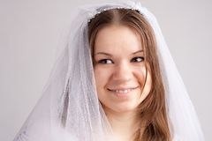 A girl in a veil Royalty Free Stock Photo