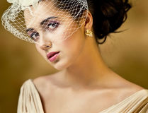 Girl with a veil Stock Image