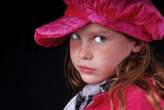Girl in Velvet Hat Stock Photography