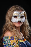 Girl in the Venetian mask Stock Photos