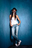 Girl with Venetian mask Stock Images