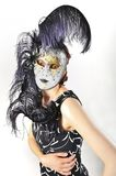 Girl in a Venetian mask isolated Stock Photos