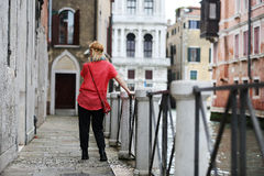 Girl in Venice Royalty Free Stock Photo