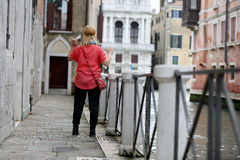 Girl in Venice Stock Photography