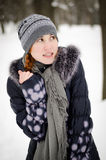 Girl is very cold Royalty Free Stock Photography