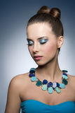 Girl with vibrant make-up Royalty Free Stock Photos