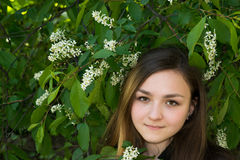 Girl Victoria in the garden Stock Images