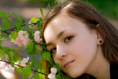 Girl Victoria in the garden Royalty Free Stock Image