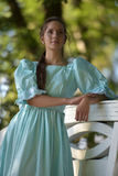 Girl in a Victorian dress. Mysterious girl in a Victorian dress Stock Photo