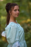 Girl in a Victorian dress. Mysterious girl in a Victorian dress royalty free stock photos