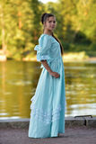 Girl in a Victorian dress. Royalty Free Stock Photography