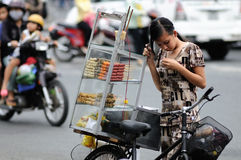 The girl in the Vietnam Market Stock Photography