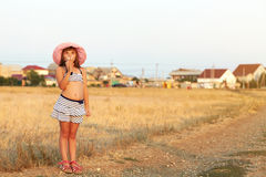 Girl on a village Royalty Free Stock Photography