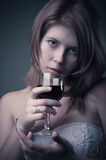 Girl with vine Royalty Free Stock Photography