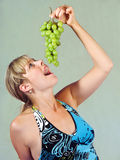Girl and vine Stock Photo