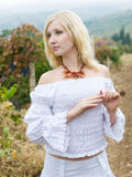 Girl in vineyard Royalty Free Stock Image