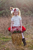 Girl in vintage clothes Royalty Free Stock Images