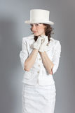 Girl in vintage clothing Royalty Free Stock Image