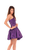 Girl in violet dress Royalty Free Stock Image