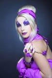 Girl in violet Stock Image