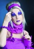 Girl in violet Royalty Free Stock Photo